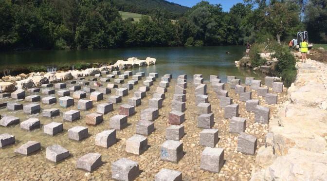 Construction d'une passe à poissons sur le site du seuil «Bellerive» à Lombard et Lavans-Quingey