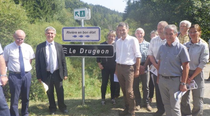 Le Drugeon amont labellisé «rivière en bon état»